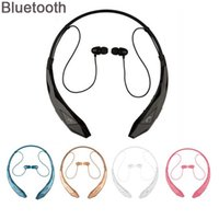 Wholesale Handsfree For Lg - Bluetooth Headset Wireless Sports stereo headphone bluetooth earphone Support microphone handsfree calls for LG Iphone Samsung