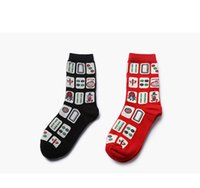 Wholesale Look Punk Casual - Punk style of men's socks Japanese mahjong elements of Chinese popular in Asia Draw a look of the new 2017 socks