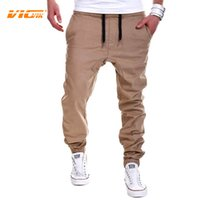 Wholesale Male Leggings - Wholesale-VICVIK Brand Mens Casual Pants Male Trousers Work Pants Men Khaki Trousers Mens Leggings Jogger Pants