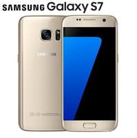 inç oktavolu çekirdekli telefon toptan satış-Yenilenmiş Orijinal Samsung Galaxy S7 G930A G930T G930P G930V G930F Unlocked Telefon Octa Çekirdek 4 GB / 32 GB 5.1 Inç Android 6.0 12MP