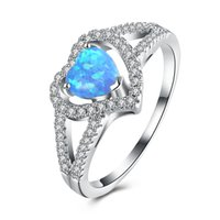 Wholesale Big Stone Ring Designs - AOBAO Women's Girl's Rings Crystal Diamond Finger Rings with Big Opal Stone Christamas Gift R028 R029 R031 9 Designs mix order