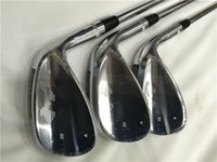 Wholesale Cover Wedges - SM6 Wedges Set SM6 Golf Wedge Silver Golf Clubs 52 54 56 58 60 Degrees Regular Stiff Flex Steel Shaft With Head Cover