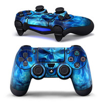 Wholesale Fire Logos - Blue fire logo Skin Cover Case Protection Skin For SONY PS4 Controller