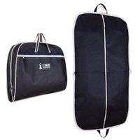 takım elbise giysi kat giysi çantası toptan satış-Toptan-Coat Giyim Konfeksiyon Suit Kapak Çanta Toz Geçirmez Askı Depolama Koruyucu Seyahat Depolama Organizer Kutu