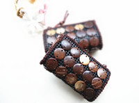 Wholesale Wholesale Beads Coin Purse - 2017 Spring New Fashion Women Crossbody Bags Mini High Quality Shoulder Bag Coconut Shell Handmade Beaded Coin Purse Original Design