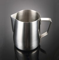 Wholesale pitcher filters resale online - Pull Flower Cup Stainless Steel Frothing Pitcher Mug Milk Coffee Cappuccino Multi Specification Cooking Tool Hot Sale jg F R