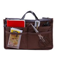 Wholesale Handbag Organiser Purse - Wholesale- Women Insert Handbag Organiser Purse Large liner Tidy TravelHot New Women Lady Travel Bag Purse Handbag Large Makeup