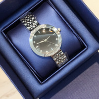 Wholesale high quality branded dresses resale online - Top brand New model Luxury dropshipping Fashion lady dress watch Famous full diamond Jewelry nice Women watch High Quality price