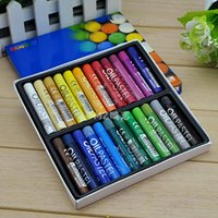 Wholesale Oil Paint Crayons - Wholesale- Mungyo Professional Artist Oil Pastels 24colors Painting Supplies Solf Crayons Set For Children High Quality Drawing Partner