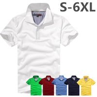 Wholesale High Quality Polo Shirts Wholesale - Free shipping 2017 Summer Men Polo Shirt High Quality Brand embroidery Pure Cotton Short-sleeve Camisa Polo Camisa Masculina Plus Size S-6XL