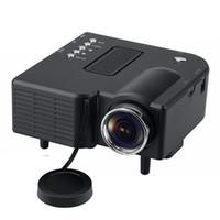 ingrosso mini pc portatile-Videoproiettore portatile portatile a LED per videoproiettori per mini videoproiettori UC28 + Videoproiettore per PC portatile Home Audio Video con pacchetto di vendita al dettaglio