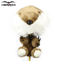 Wholesale Drivers Cartoons - Golf club Head Cover Plush Cartoon Animal Headcover 1ON driver wood headcover golf clubs protect covers free shipping