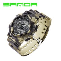 Wholesale Men S Silicone Watch - Sanda G Style Digital Watch S Shock Men Military Army Watch Water Resistant Date Calendar relogio masculino LED Sports Watches