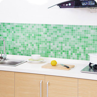 Wholesale Mosaics For Kitchens - iy home decor 45x200cm Waterproof Mosaic Aluminum Foil Self-adhensive Anti Oil Kitchen Wallpaper Heat Resistance Wall Sticker DIY Home De...