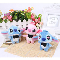 Wholesale Small Plush Stitch Toy - 50Pcs Lot Cute Lilo and Stitch Plush Toys With Chain Phone DIY 10Cm Cotton Small Pendant Stuffed Gifs For Wedding Or Children 026