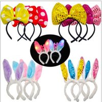 Wholesale Bow Flashlight - Luminous ox horn, crown, bow tie, headdress, hair pin, hair band, flashlight, children's toy