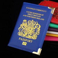 Wholesale Uk Wallet - NEW Fashion Passport Holder Cover for UK and European Passport Protector Cover Wallet PU Leather