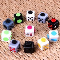 Wholesale Pvc Fingers - Hot selling Fidget cube the world's first American decompression anxiety Toys finger spinner toy Hand tri spinner HandSpinner EDC gift