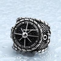 Cool Big Anchor Ring For Man Stainless Steel Rock Punk Rings Homens Titanium Steel Unique Biker Fashion Jewelry BR8-341