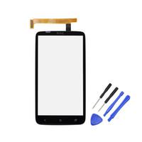 передняя крышка для iphone 4s оптовых-Новый для HTC One X S720e сенсорный экран Digitizer передняя панель внешний стекло Digitizer запасные части черный цвет
