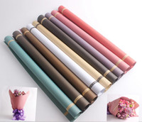 Wholesale 6 color Flower bouquet Wrapping Paper Floral Gift Packaging Paper Flowers Material Florist supplies Wrapping Papers Packaging Paper KKA1994