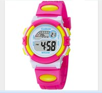 Wholesale Best Alarm Watch - Coolboss multifunction children's electronic watches 7 color Luminous alarm clock calendar time waterproof sports watches child best gift