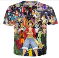 Wholesale Monkey D Luffy T Shirts - Newest Fashion Mens Womans Cartoon One Piece Monkey D Luffy Summer Style Tees 3D Print Casual T-Shirt Tops Plus Size