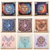 Square square bath mats - 21 Designs IndianTapestry Psychedelic Sun God Bohemian Elephant Beach Towel Shawl Wall Hanging Decorative Tapestry Picnic Mat CCA5905