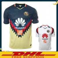 Wholesale Wholesale Men S Jerseys - DHL Free shipping 2017 2018 LIGA MX Club America soccer Jerseys home away 17 18 Club America soccer Jerseys Size can be mixed batch
