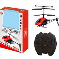 rc helicopter big al por mayor-Control remoto de dos vías RC helicóptero 3.7 V 15 cm modelo de juguete avión cayó mini aviones de control remoto