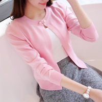 Wholesale Thin Outerwear Sweater - Wholesale-2017 sweater cardigan short design sunscreen small cape thin outerwear spring and autumn female sweater long-sleeve