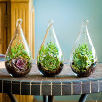 Wholesale Hanging Glass Teardrop Glass Terrarium Kit Hanging Glass Vase For Wedding Home Decor piece per