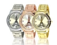 Wholesale Davena Watches - hot women dress Austrian rhinestone watches fashion casual quartz watch Leopard steel wristwatch Luxury Davena 60089 clock