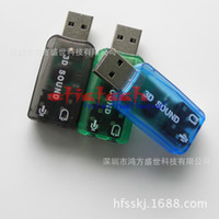 Wholesale by dhl or ems USB to D Audio USB External Sound Card Adapter Channel Sound Professional Microphone mm