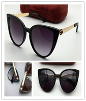 Wholesale Cateye Glasses Frames - New fashion luxury brand designer sunglasses retro cateye frame top quality anti-UV protection glasses with original box casual summer style