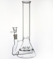 sprinklers design - New Design big Beaker thick mm Glass Bong with gridded inline perc Smoking glass Recycler Sprinkler Flawless Oil Rigs Hookahs mm joint