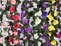 Wholesale Morning Glories Plants - High quality decorative wall simulations of plant trumpet simulations of morning glory