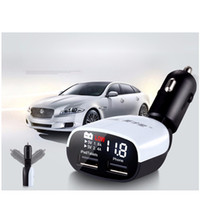 Wholesale car dual screen resale online - LED Screen Dual USB Car ChargerCars Voltage Monitoring Display for iPhone S plus for Samsung S6 for iPad Universal Charger