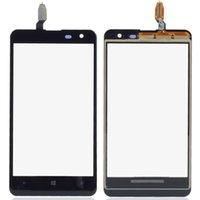 pantalla táctil lumia 625 al por mayor-Al por mayor- 1 Pieza de cristal exterior negro Panel táctil pantalla digitalizador de repuesto para Nokia Lumia 625 4.7 pulgadas P0.16