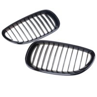Wholesale bmw series black kidney grills for sale - 1 Pair Black Car Front Kidney Hood Grille Grill For BMW E60 E61 Series M5 Auto Replacement Parts