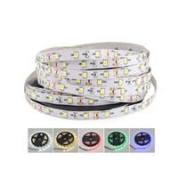 ingrosso nastri leggeri-LED Strip Light 12V 5M 300 Leds SMD 3528 Nastro a diodi RGB singoli colori di alta qualità LED a nastro flessibile luci spedizione gratuita