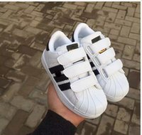 Wholesale Head Winter Shoes - HOT!2017 top Quality Superstar Head Sneakers Children casual shoes for kids boys sneakers and girls casual shoes EUR 25-EUR 35 free shipping
