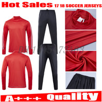 Wholesale full bull - Top Thai quality tracksuit training suit red soccer Jerseys 17 18 Bull FELIPE GULBRANDSEN KLJESTAN MUYL ALLEN VERON long pants..