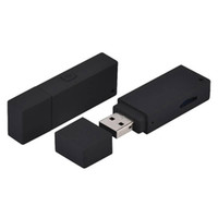 mini kamera deliği toptan satış-Hiçbir delik USB disk Mini DV DVR HD 1080 P U-disk Tarzı mikro kamera Taşınabilir USB Flash Sürücü pinhole Kamera desteği TF kart