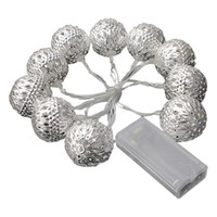 Großhandel-3M 10 LED Ball Marokkanischen Fairy Solar String Laterne Lichter Lampen Weihnachten Party Decor-Cool White