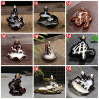 Wholesale Factory Flow - Ceramics Incense Burner Hand Made Back Flow Cone Censer For Home Decoration Air Fresheners Incensory Factory Direct Sale 8cy B