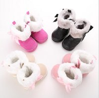 Wholesale High Top Toddler Boots - Free shipping Winter Fluffy Bow Princess snow boots!warm baby shoes,soft kids shoes,high top toddler snow shoes.6pairs 12pcs.C