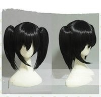 Wholesale Black Ponytail Cosplay Wig - ePacket free shipping>Love Live! Yazawa Nico Short Black Clip Ponytail Cosplay Wigs Hair