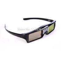 Wholesale 3d Projector Shipping - Wholesale- 2017 New 2Pc Excellent Rechargeable Active Shutter DLP 3D link Glasses for all DLP 3D Projector 3D Glasses Free shipping