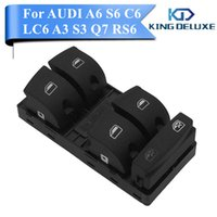 Wholesale Audi S6 Quattro - Car Front Button Master Window Switch Control For AUDI A6 Quattro LC6 S6 C6 A3 S3 Q7 RS6 2004-2014 4F0 959 851 Car Styling #W008